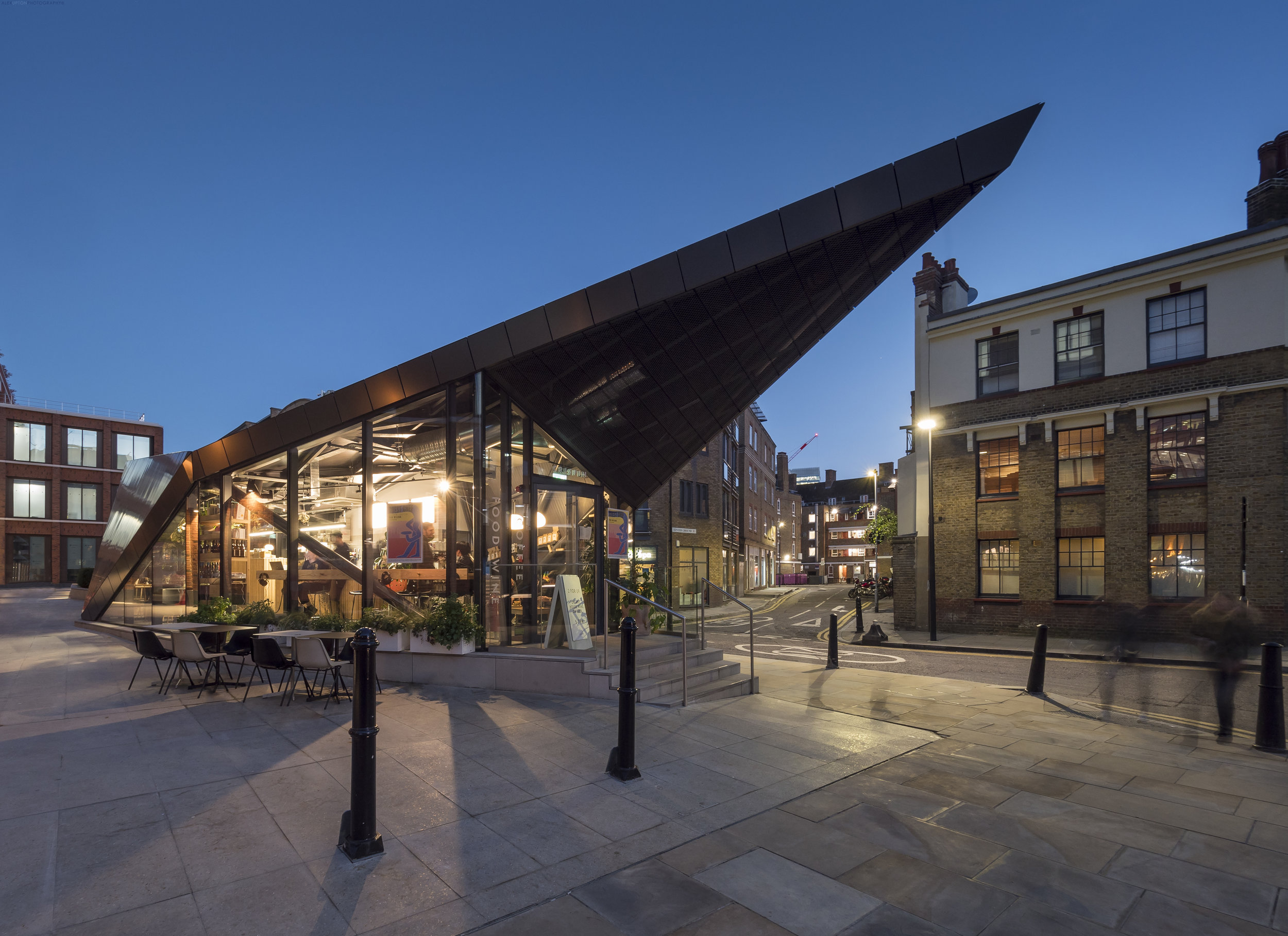 Architectural Photography of the Fruit & Wool Exchange Pavilion