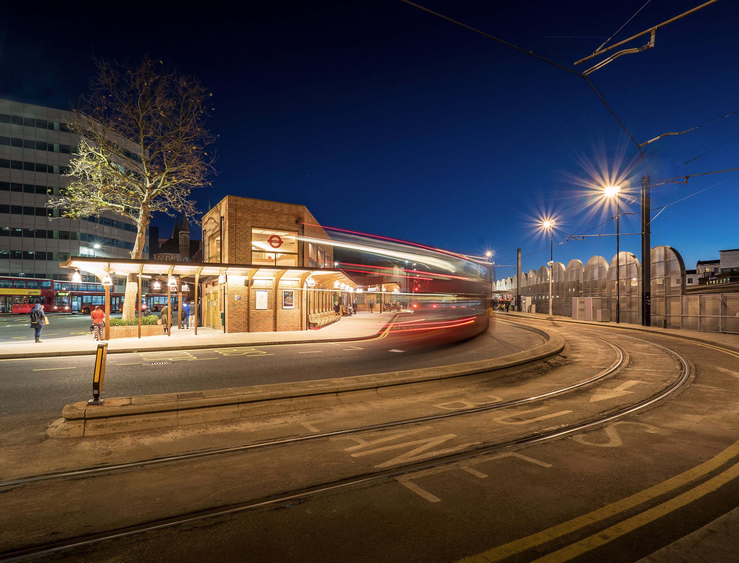 TFL's new West Croydon Bus Station sits alongside the tramlines.