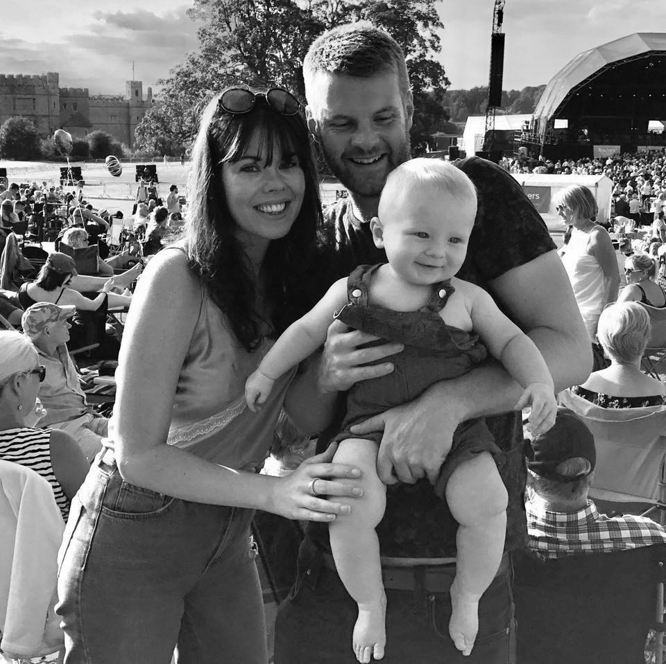 Laura with partner Alex and little boy Dylan in Summer 2017.