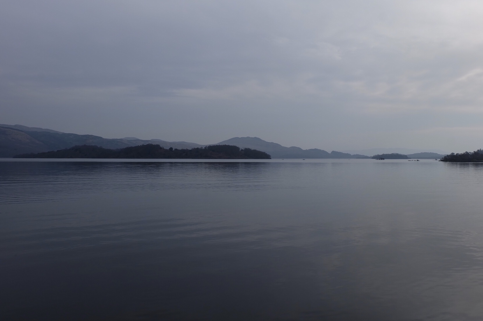 View across Loch Lomond from the shores of the village of Luss