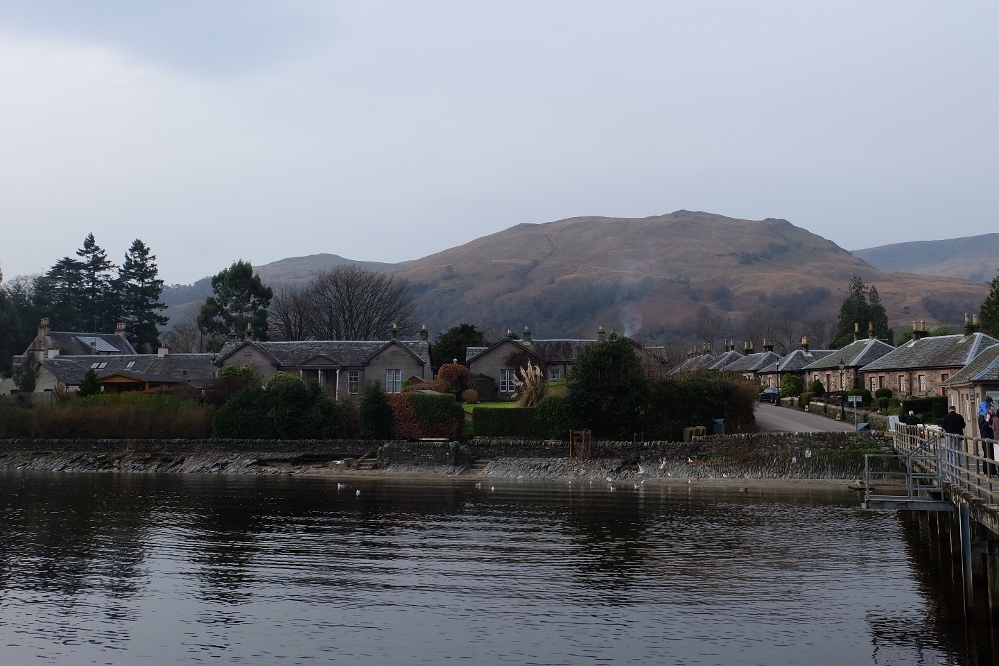 View of Luss from the pier.