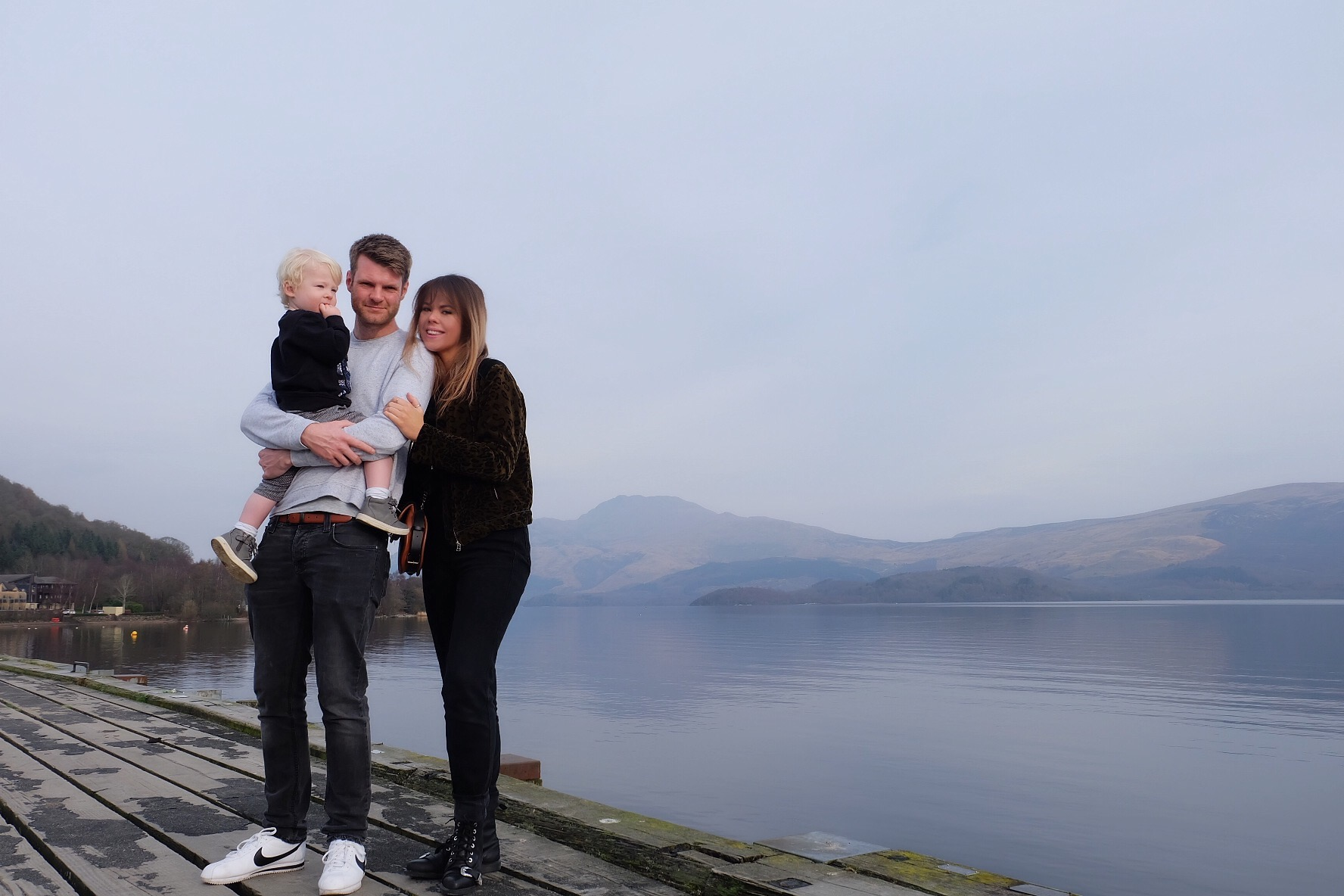 A little Nixey family holiday snap on the banks of the Loch!
