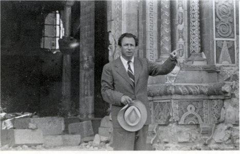At his destroyed synagogue '49.jpg