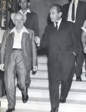 Rabbi Joachim Prinz and Israeli Prime Minister David Ben-Gurion. (  Photo courtesy of The Jacob Rader Marcus Center American Jewish Archives)
