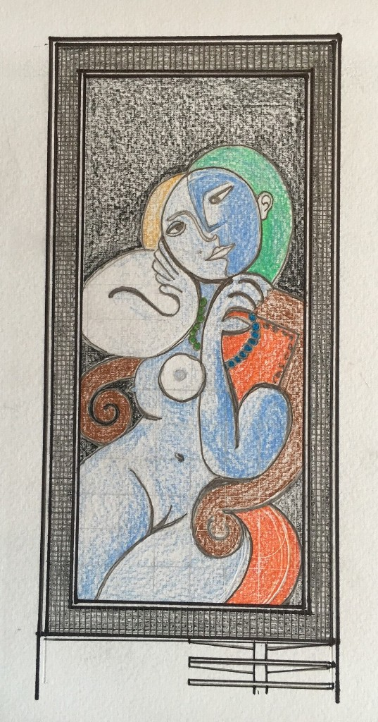 Picasso Glass Tile Mural Rendering