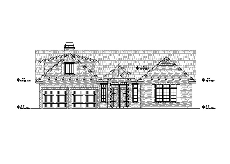 Architectural Custom Home Elevation