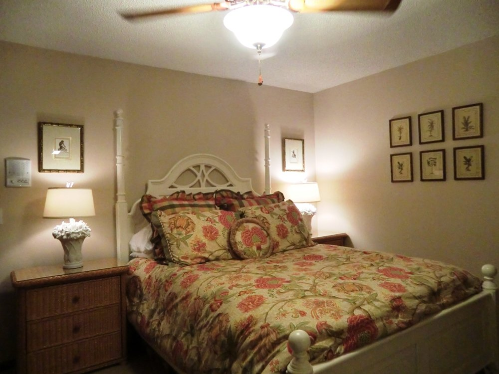 Interior design services for Tropical - Colonial - Bahamas Style guest bedroom located in Saint Andrews Country Club