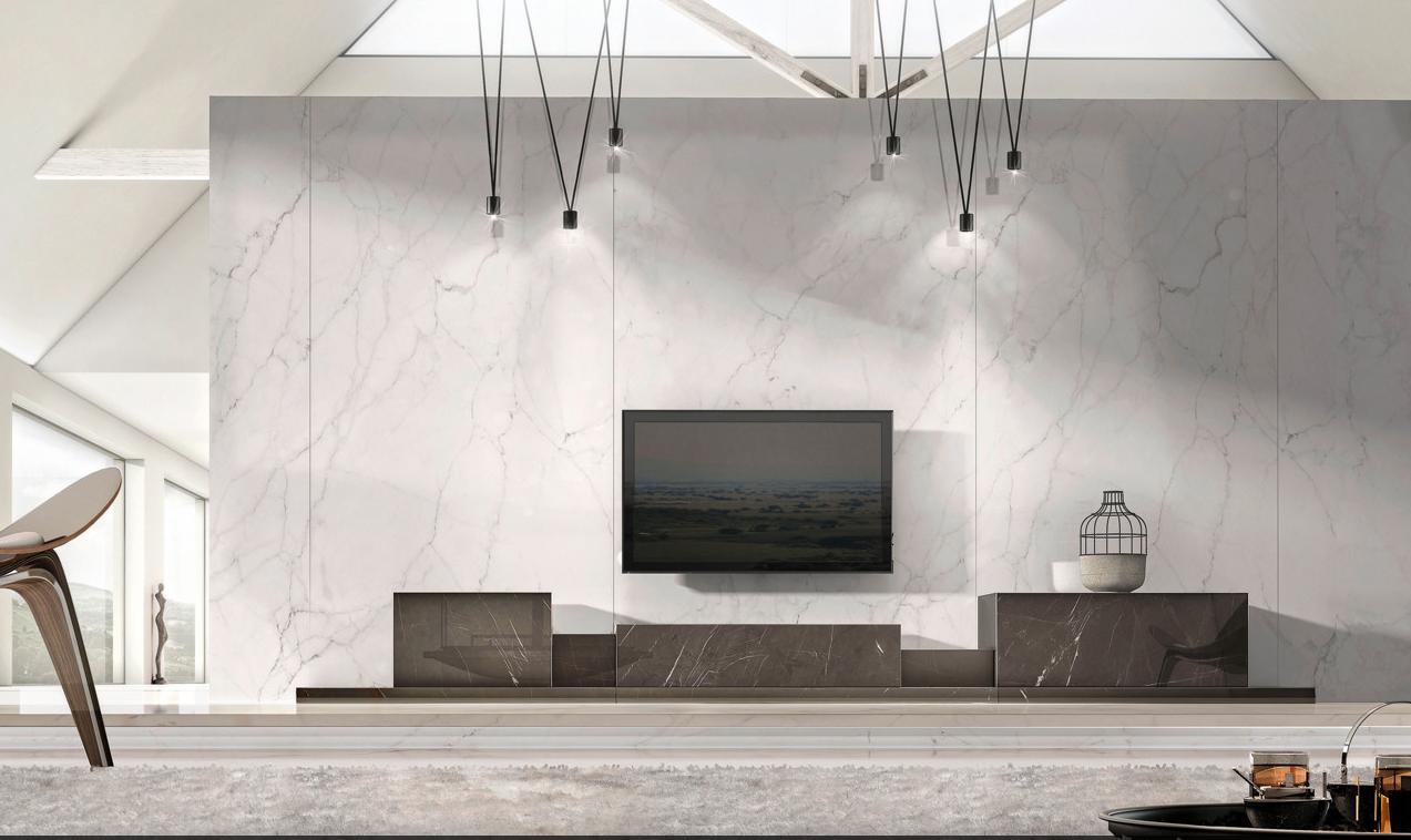 Podium Sideboard in Grey Kenzo Marble