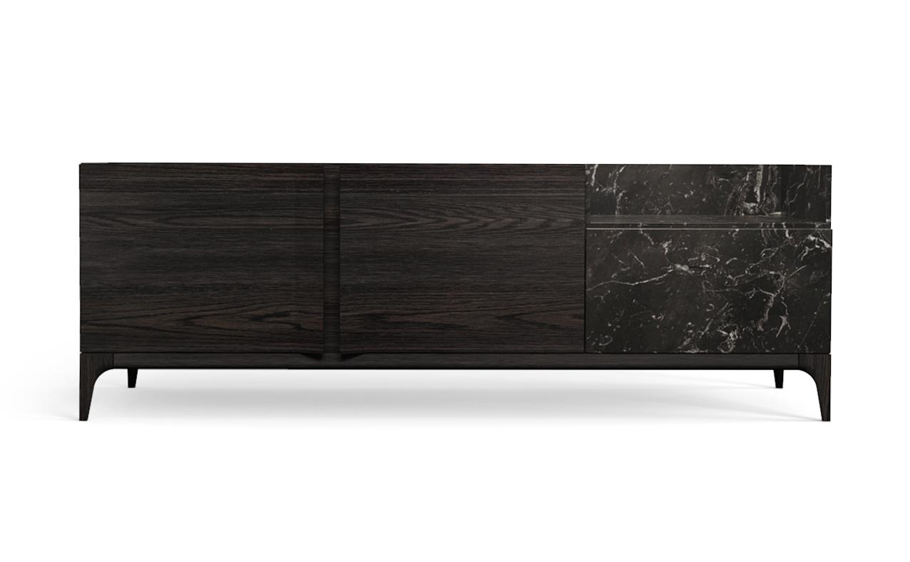 Strom Sideboard in Nero Marquina Black Oak
