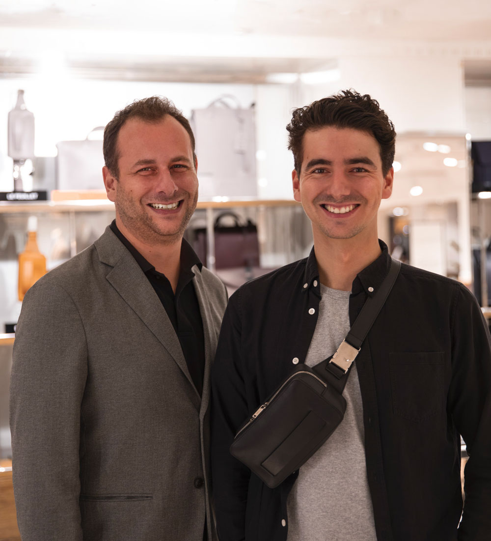 About Us - In 2014, Ylan and Davy, two brothers, decide to put all of their energy and enthusiasm to create an avant-garde brand witnessing their unique vision of leather goods.