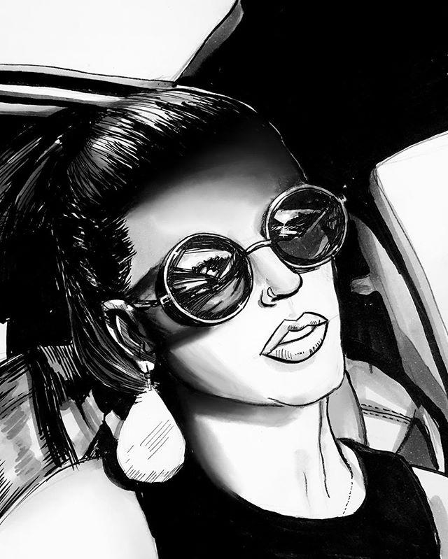 Day 6: @2littlelasagnas  Absolutely fell in love with the original photo...hopefully I did it justice🤷♂️🤞 #inktober #inktober2018 #art #artist #instaart #draw #drawdaily #practice #sketches #marker #brushpen #fanart #comicart #comicartist #inking #drawing #ink #pendrawing #illustration #copic #pentel #artistsoninstagram #artists #brushpen #penandink #portrait #inkportrait
