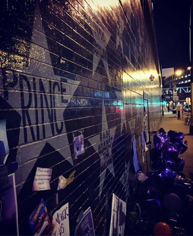 The Prince Memorial right outside of his club, First Avenue, Minneapolis.