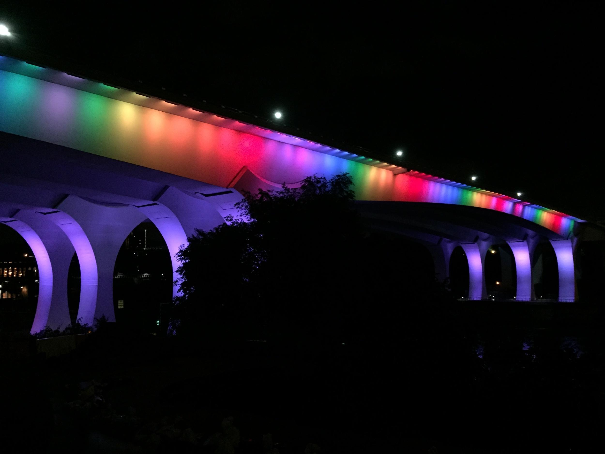 I-35W Bridge in Minneapolis, Minnesota - A tribute to the Orlando Shooting