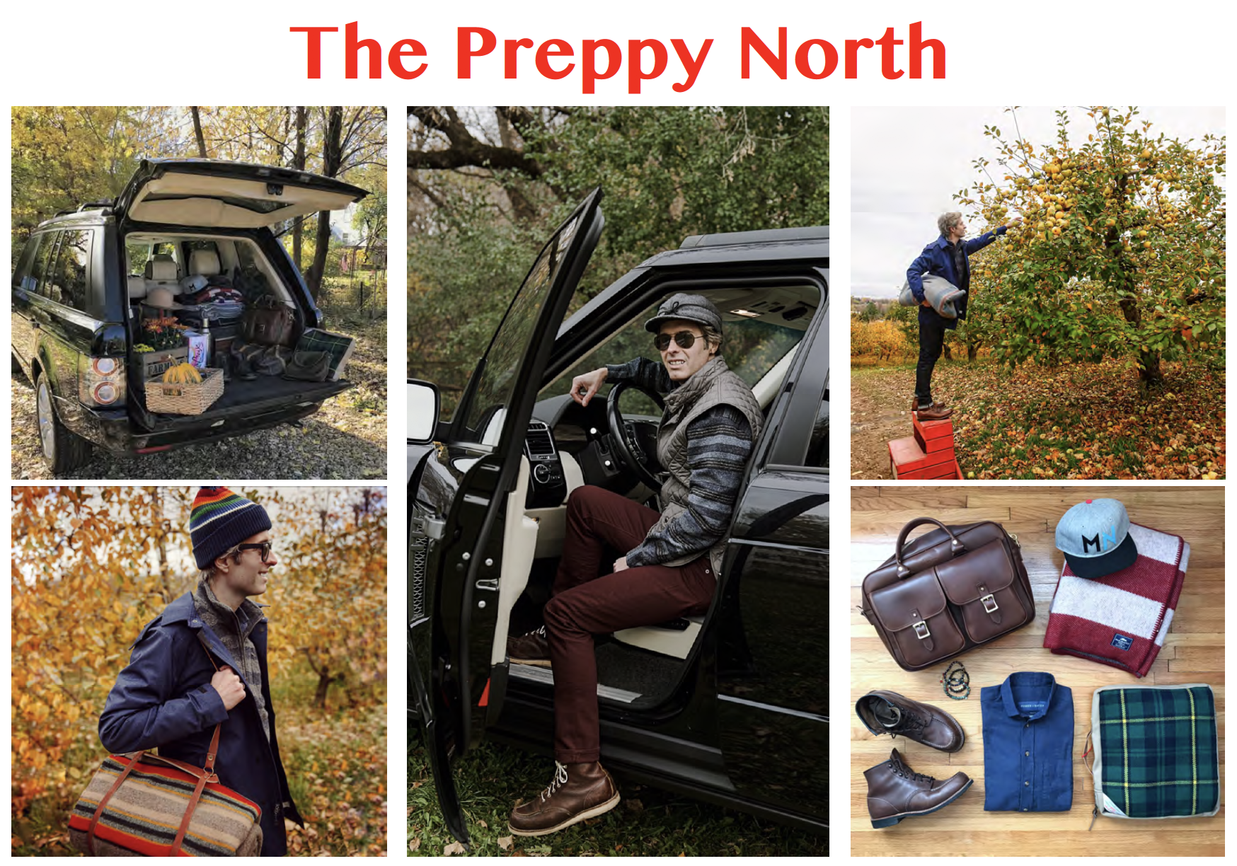"The first photoshoot I produced and styled, October 2017. ""The Preppy North"""