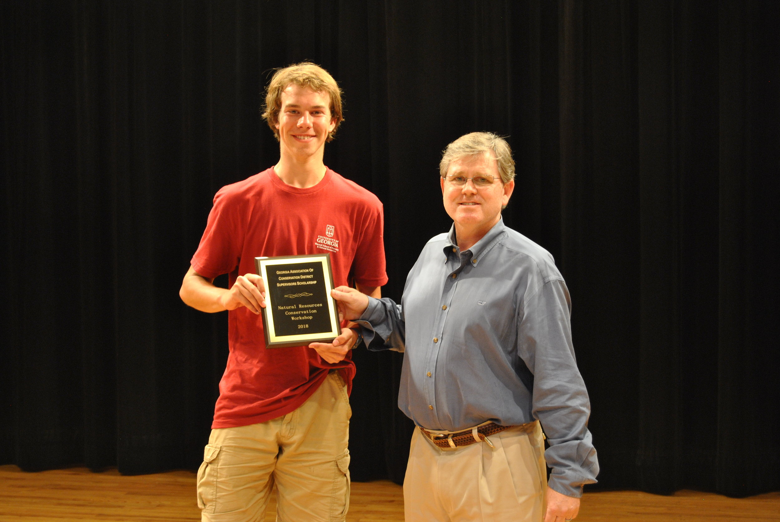 GACD was the lead sponsor of this year's  Natural Resources Conservation Workshop ! We provided a $6,500 scholarship to the highest scoring individual.  The GACD Scholarship winner for 2018 is Rhys Medcalfe! Rhys is a rising Junior at  John S. Davidson Fine Arts Magnet School  in Augusta, GA. Pictured with Rhys is GACD President Woody Snell.