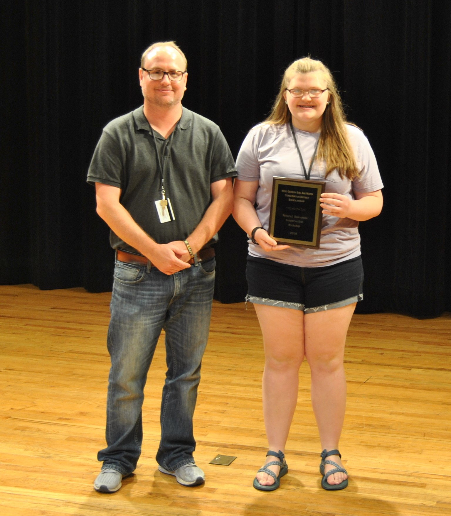 Rachel Ibbetson was the recipient of the $1000 West Georgia Soil & Water Conservation District Scholarship. A special thank you to  Haralson County, Georgia Farm Bureau Insurance  for sponsoring this scholarship.  Rachel is an upcoming junior at  Haralson County High School ! Pictured with her is Luke Crosson, NRCW Director.