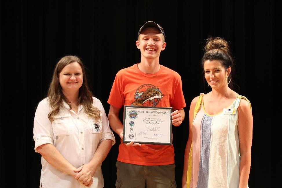 Georgia's Conservation Districts and GACD provided a $6,500 scholarship to the overall highest scoring individual at this years  Natural Resources Conservation Workshop .  Congratulations to our 2019 Scholarship Winner, Nate Mooney! Nathan resides in Ellijay, GA and is an upcoming senior at Gilmer County High School. Nathan was sponsored by the Limestone Valley Conservation District.   Thank you to the following Conservation Districts for their generous donation to the scholarship: Alapaha,    Altamaha Soil and Water Conservation District   , Blue Ridge Mountain,    Brier Creek and Columbia County Soil and Water Conservation Districts   , Broad River,    Catoosa County Conservation District   , Central Georgia, Clayton County, Coastal, Cobb County,    Coosa River Soil & Water Conservation District   ,    DeKalb County Soil and Water Conservation District   ,    Flint River Soil and Water Conservation District   ,    Fulton County Soil and Water Conservation District   , Gwinnett County, Hall County,    Henry County Soil and Water Conservation District   , Lamar County, Limestone Valley, Lincoln County, Lower Chattahoochee River, McDuffie County, Middle South Georgia, Ocmulgee River,    Oconee River Soil and Water Conservation District   , Ogeechee River, Ohoopee River, Piedmont, Pine Mountain, Rockdale County, Satilla River, Towaliga , Upper Chattahoochee River, Walton County,    West Georgia Soil and Water Conservation District