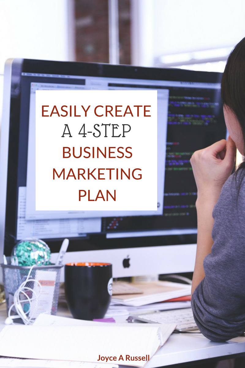 Easily create a 4 step business marketing plan