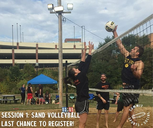 Sign ups for our first session of sand volleyball are closing this weekend — register as a free agent or team before it's too late! [link in bio]