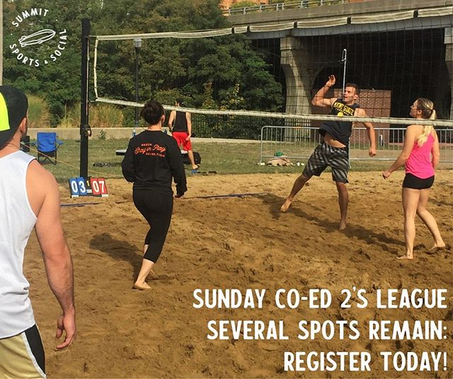A few team slots remain for our Sunday 2's league — sign up today! $100 per team for a double header league lasting 6-8 weeks. Registration link in bio.