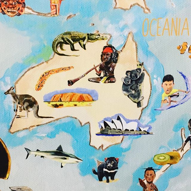 Wishing all our friends from down under a happy Australia Day! 🇦🇺 🐨 . . . Australia holds a very special place in my heart... I just love looking at this part of the map 😍 #theyellowtoucan #australiaday #worldmap