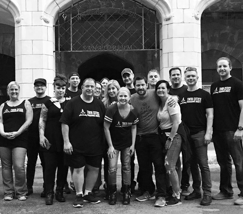 Twin Cities Paranormal Society with special T.A.P.S. guests Grant and Reanna Wilson at the Waverly Hills Sanatorium, May 2018.