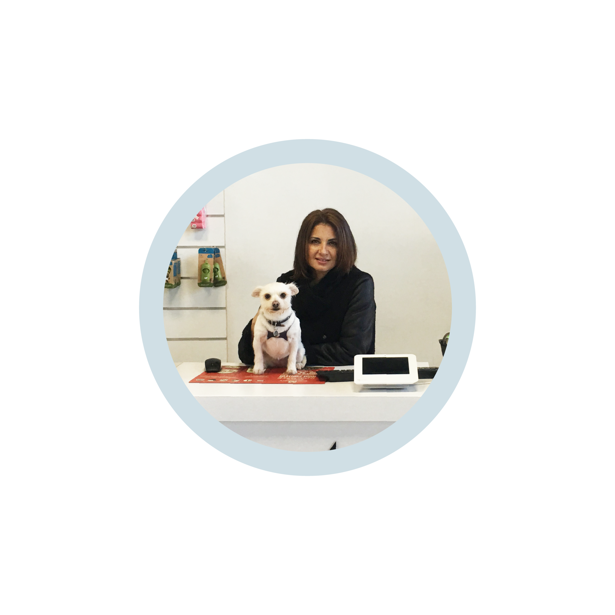 Dina Marquez - Dina has been passionate about dogs for as long as she can remember. She has been active with several rescue organizations around San Diego for years, and as a result opened Barkhouse in 2016. Opening the doors allowed her to not only be surrounded by her fur babies, but as well as yours. Because of this, Barkhouse is a pampering, safe, stress-free, cage-free environment for your fur-baby. Stop by and say hi, she is always in the store waiting to meet new pups. Message her below today!