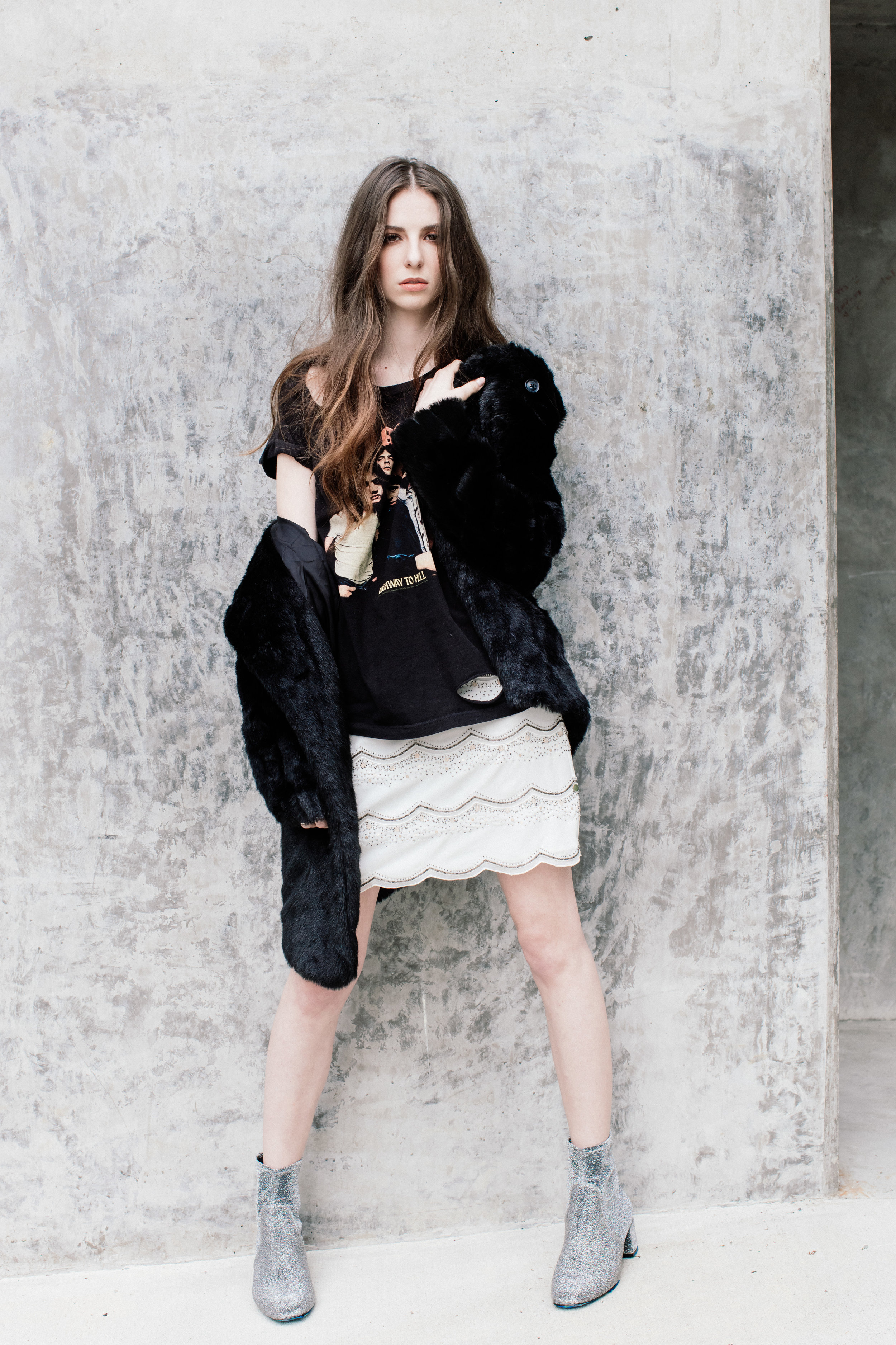 Fashion editorial photo of actress Genevieve Buechner.