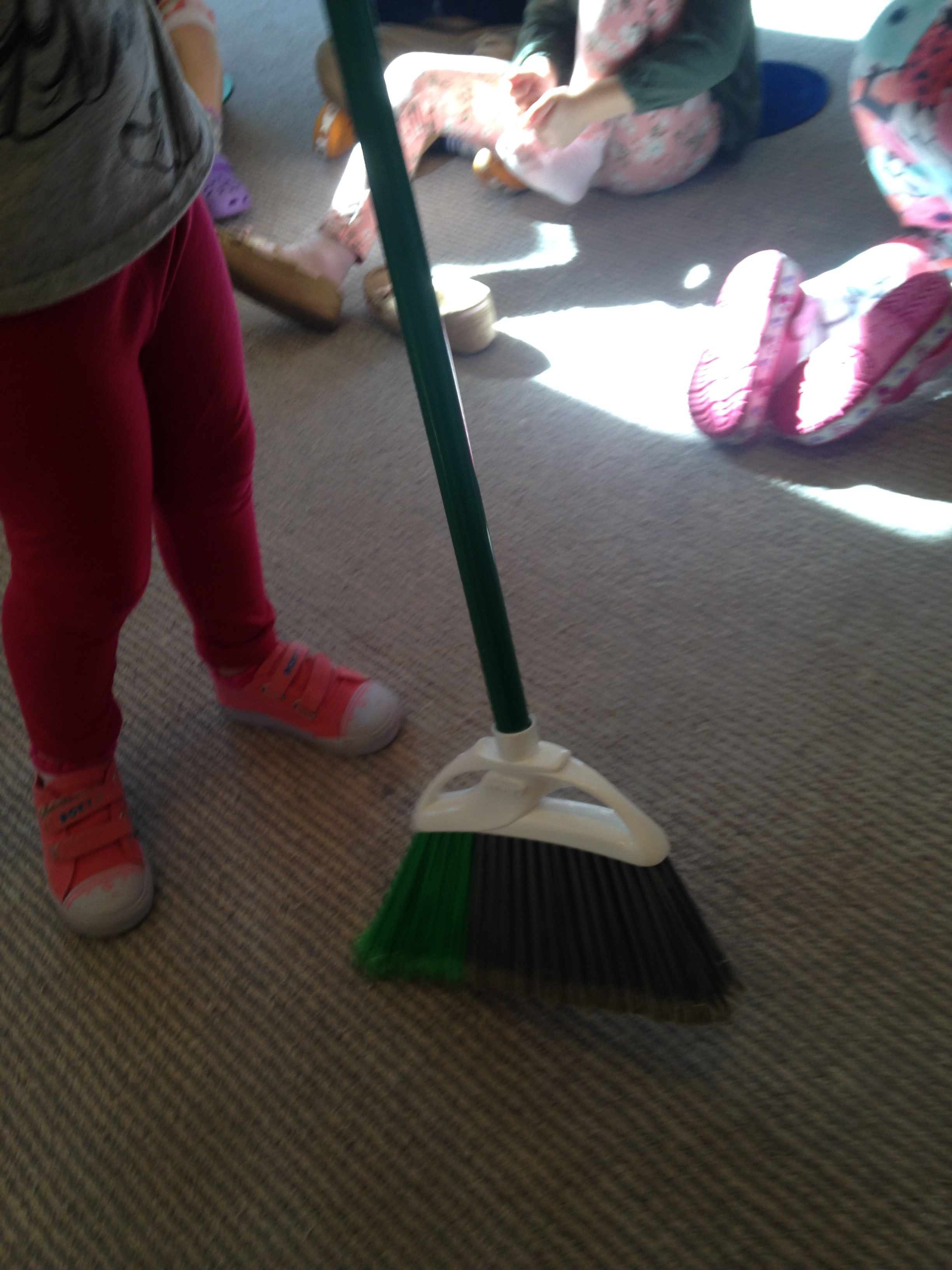 Sweeping the classroom to welcome the new year!
