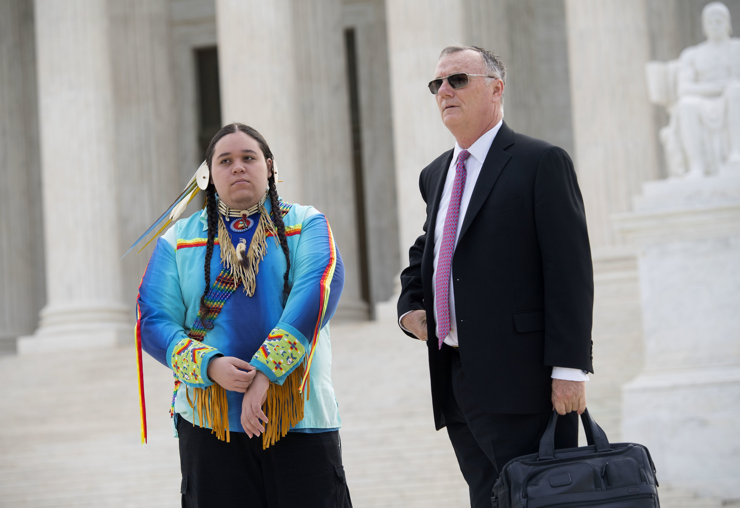 Journey with #youthvgov lawyer Phil Gregory on the steps of the U.S. Supreme Court, April 27, 2017. Photo: Robin Loznak