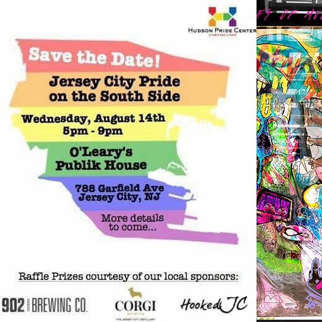 Join Tyber @agentskyhouse , @encryptedritual / @encryptedritualphotography , and a fantastic queer crowd at @olearyspublikhouse tomorrow night for a queer pride art show! Pieces from the upcoming release #thebonesofmuddybanks  will be seen for the first time publicly, including some of the the original paintings. There will also be a raffle which will include B0MB art 🌊🤟😸✌️🌊 #jerseycity #jerseycityart #twospirit #ndn #queer #lgbtqapride #jcpride (if you're in the show dm me so I can tag you ♥️)