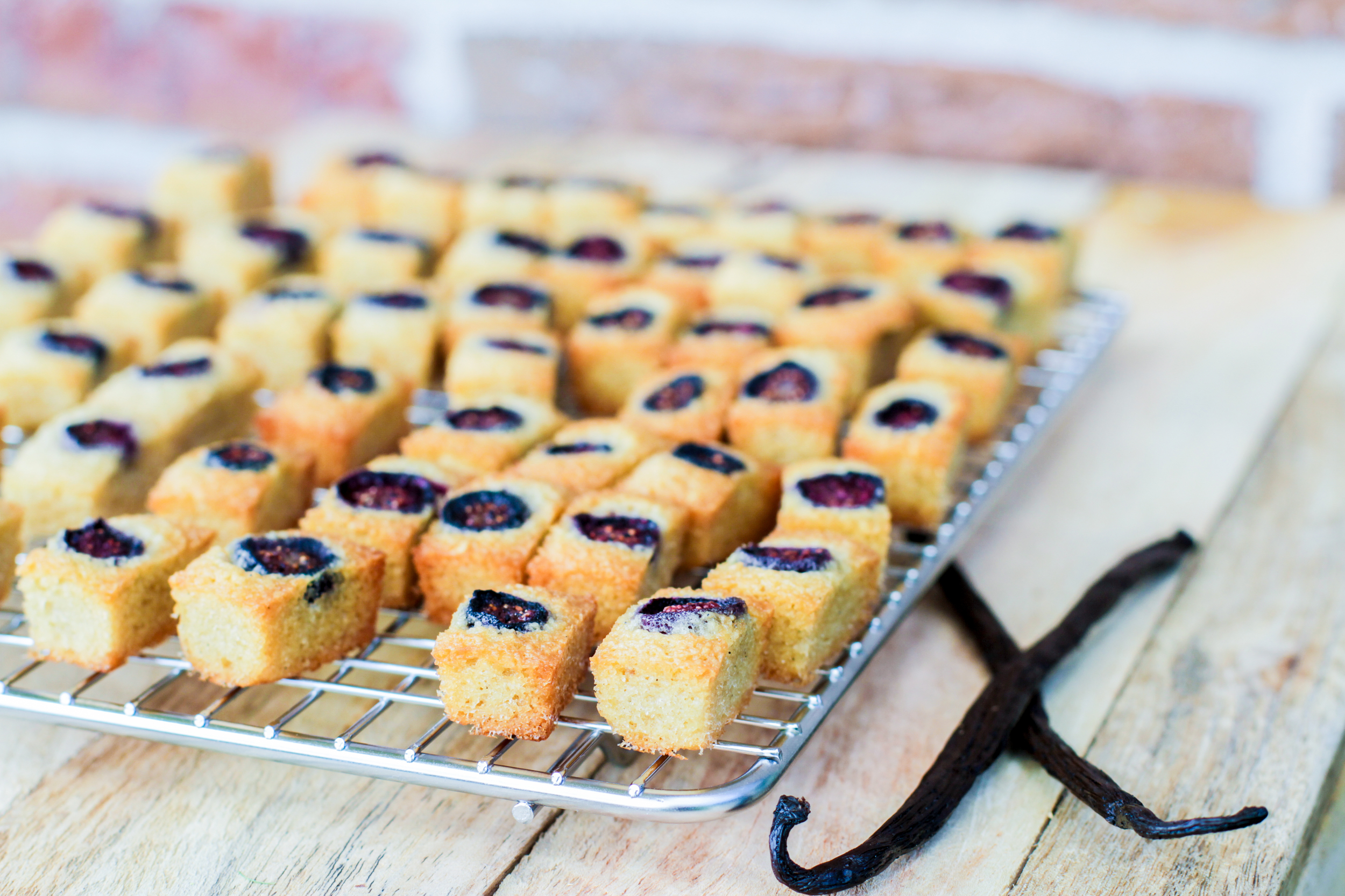 Blueberry & Vanilla Financiers