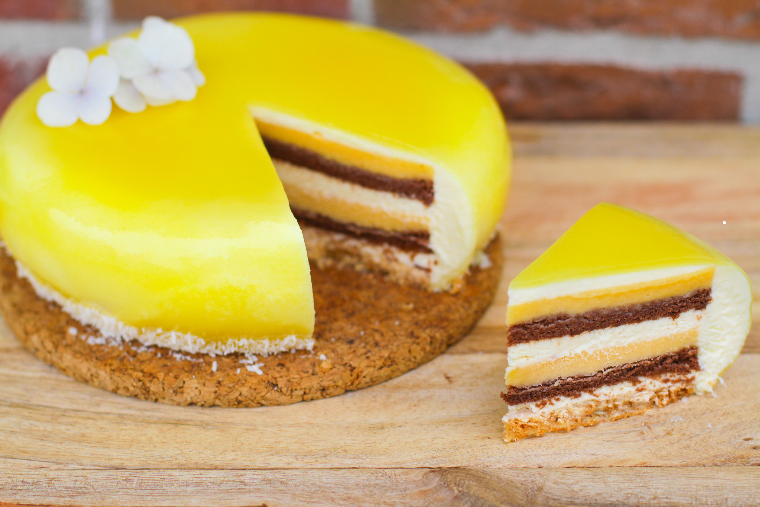 Coconut and Pineapple Entremet