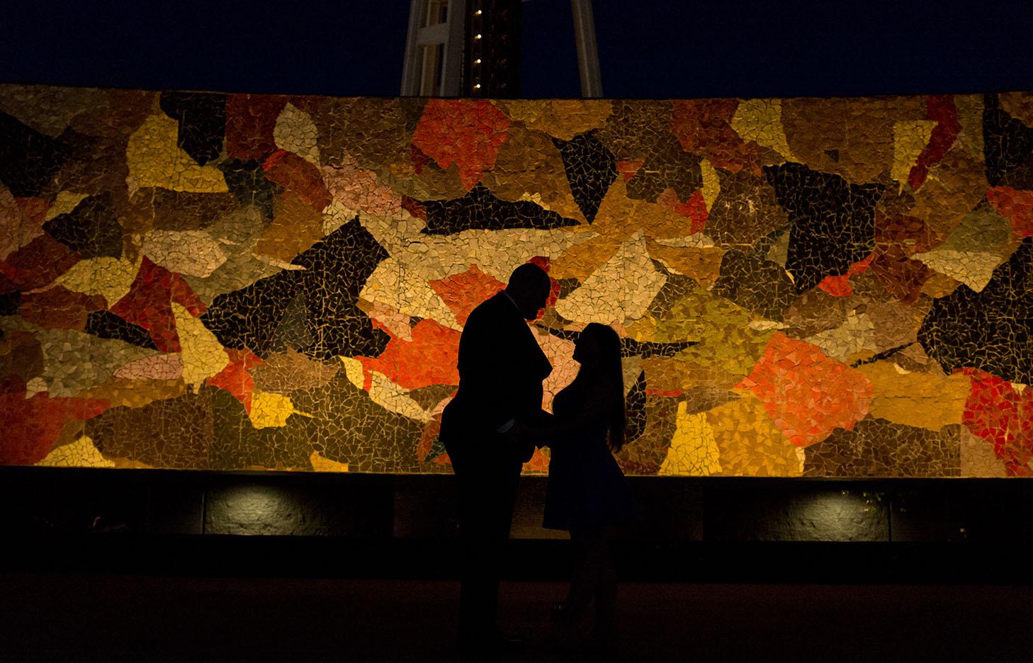 Seattle surprise proposal engagement photography