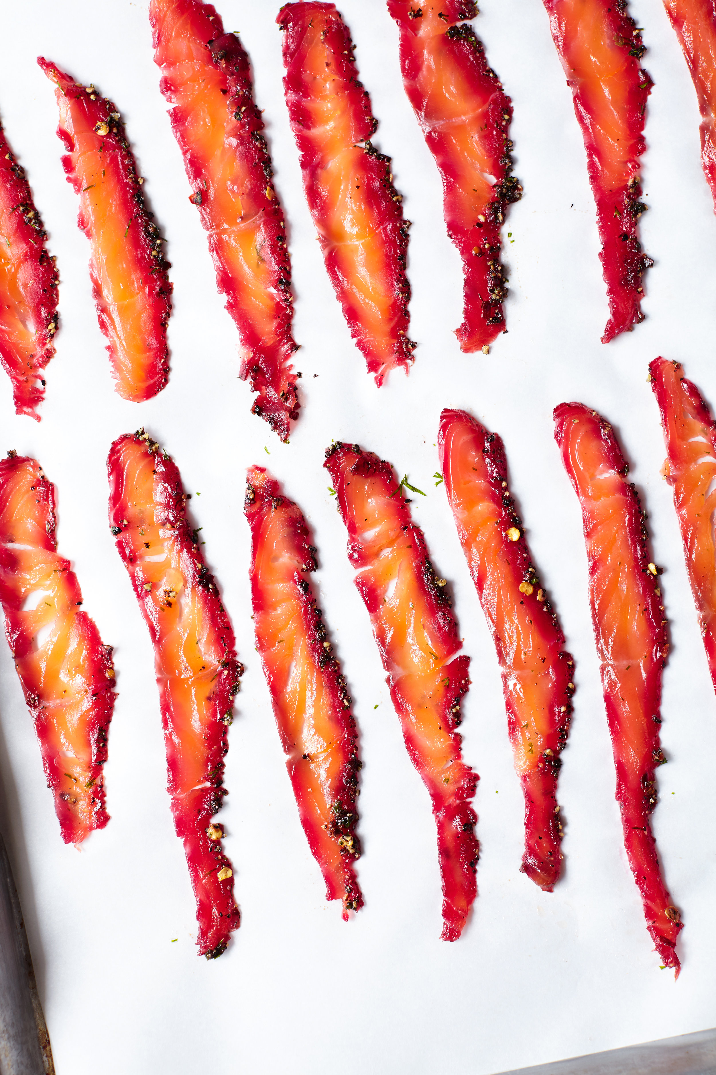 SPICED BEET CURED SALMON