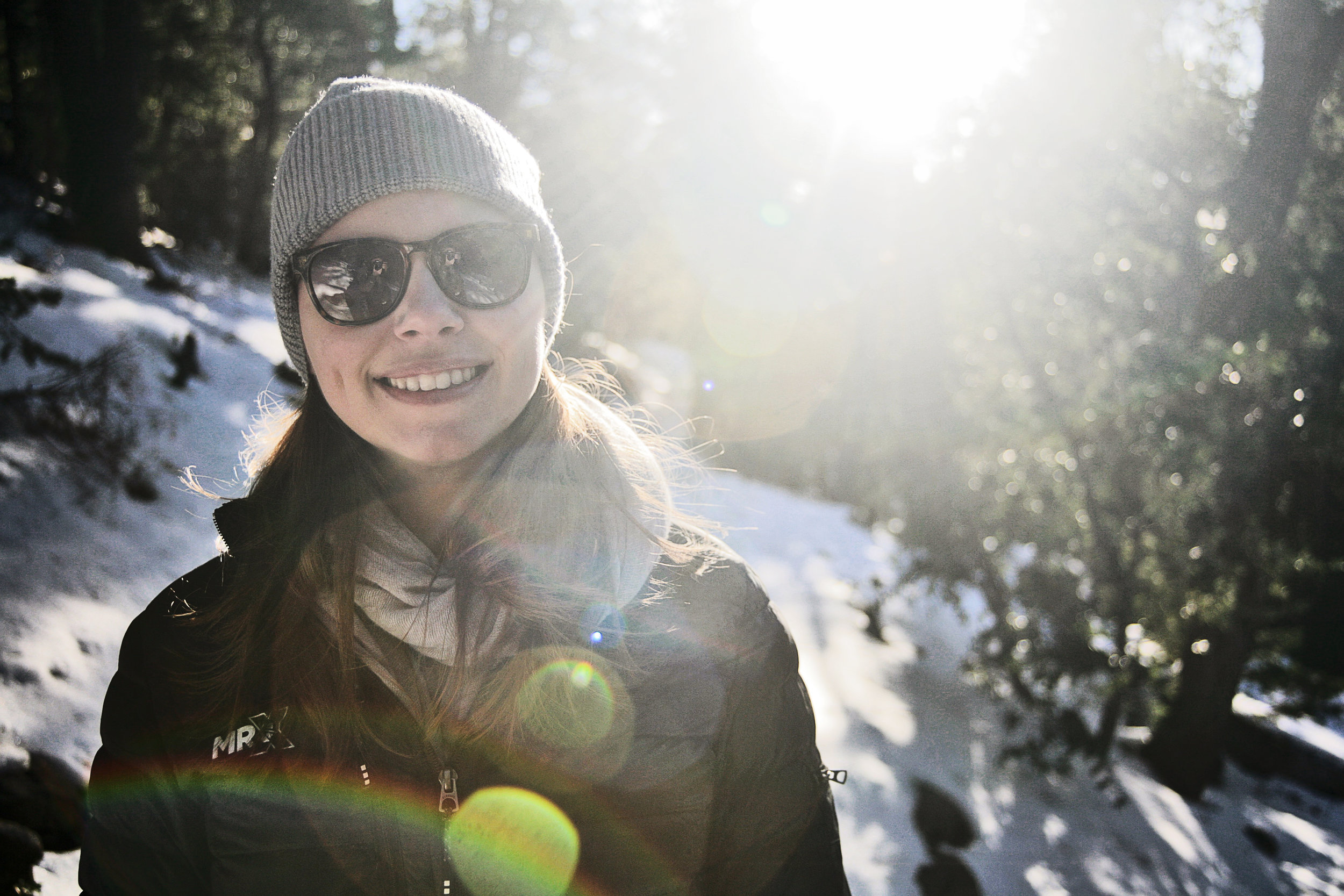 Snow Hiking in Idyllwild.