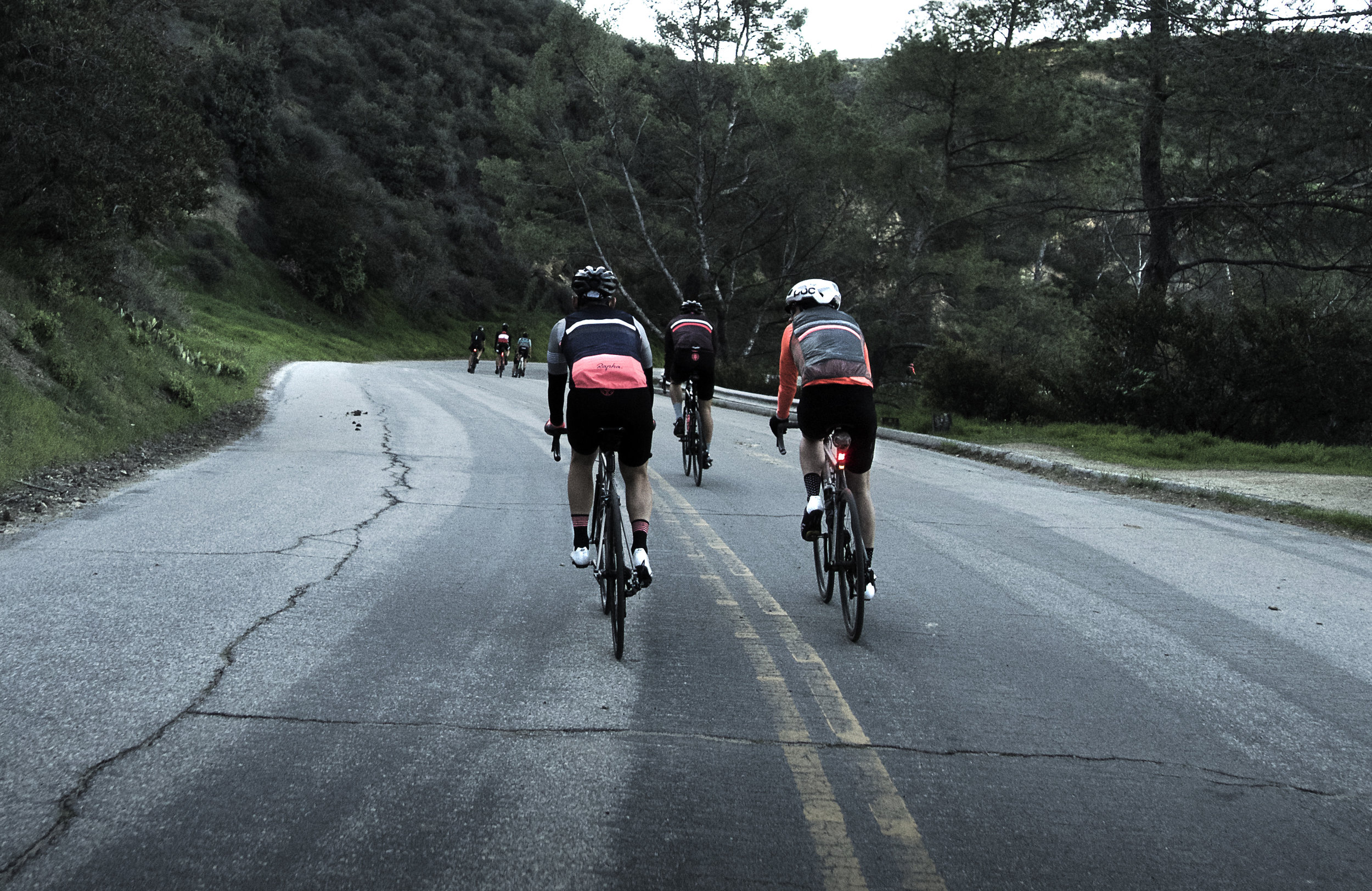 Rapha Cycling Club, descent to Hollywood