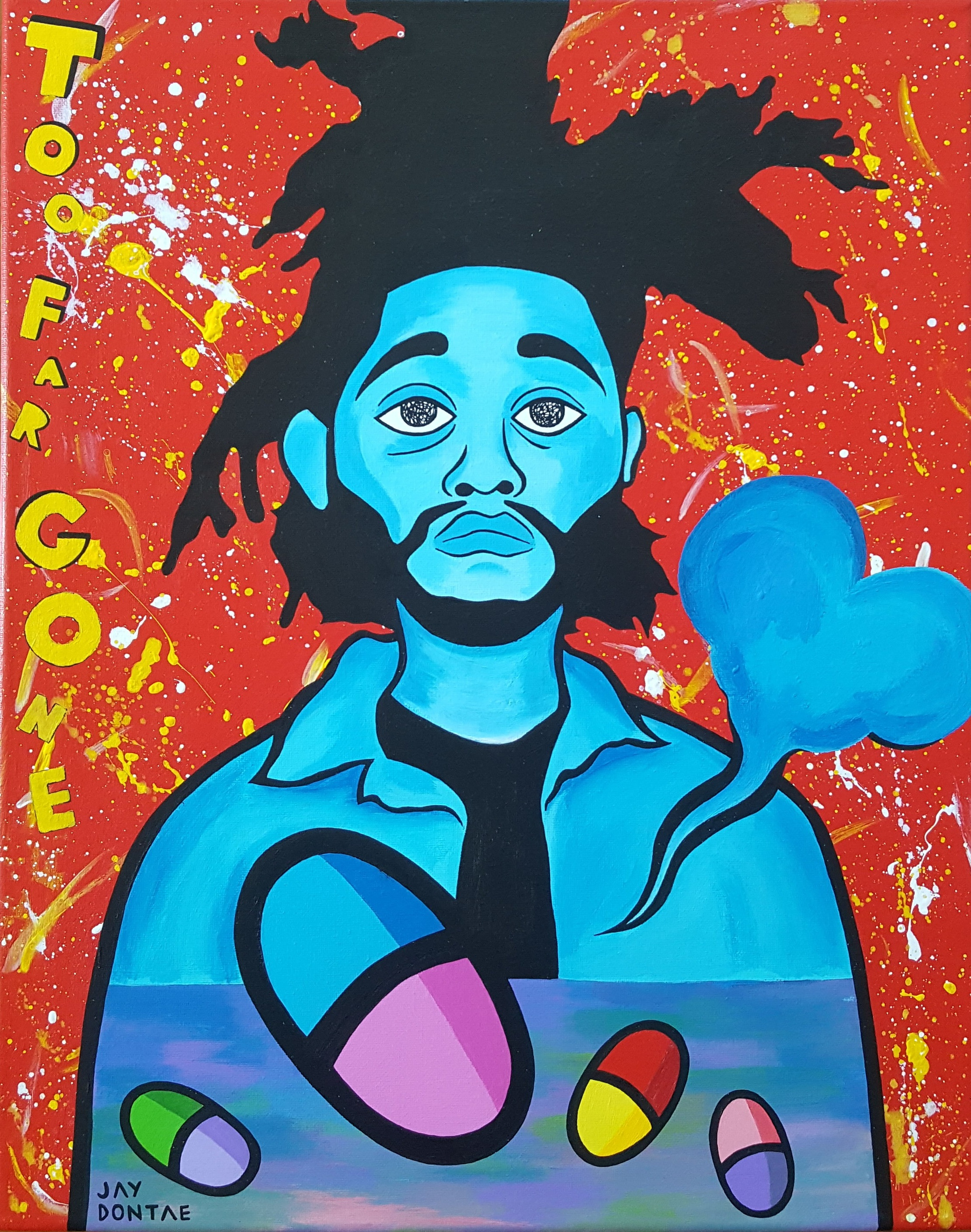 Acrylic on Canvas, Jay Dontae 2019