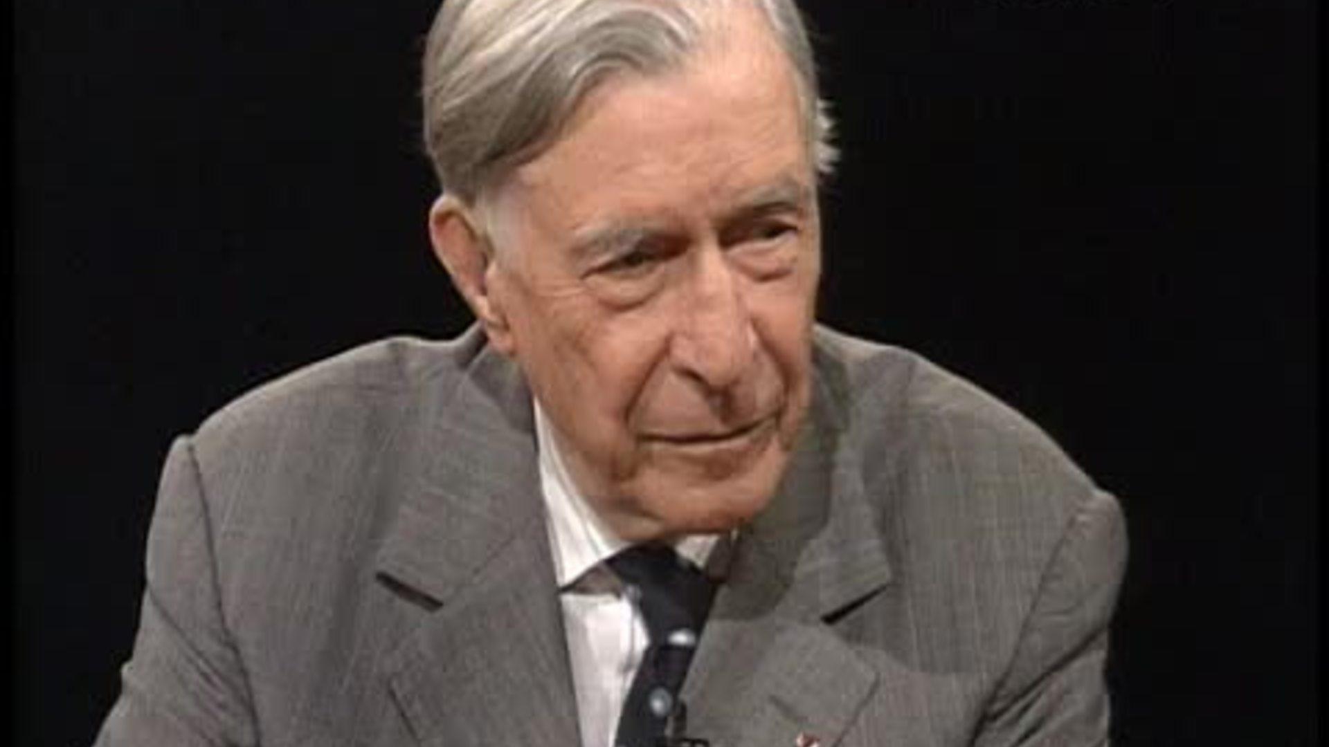 John Kenneth Galbraith (web screen shot, PBS)