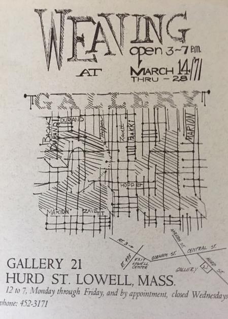 Exhibition announcement, Gallery 21, 1971.
