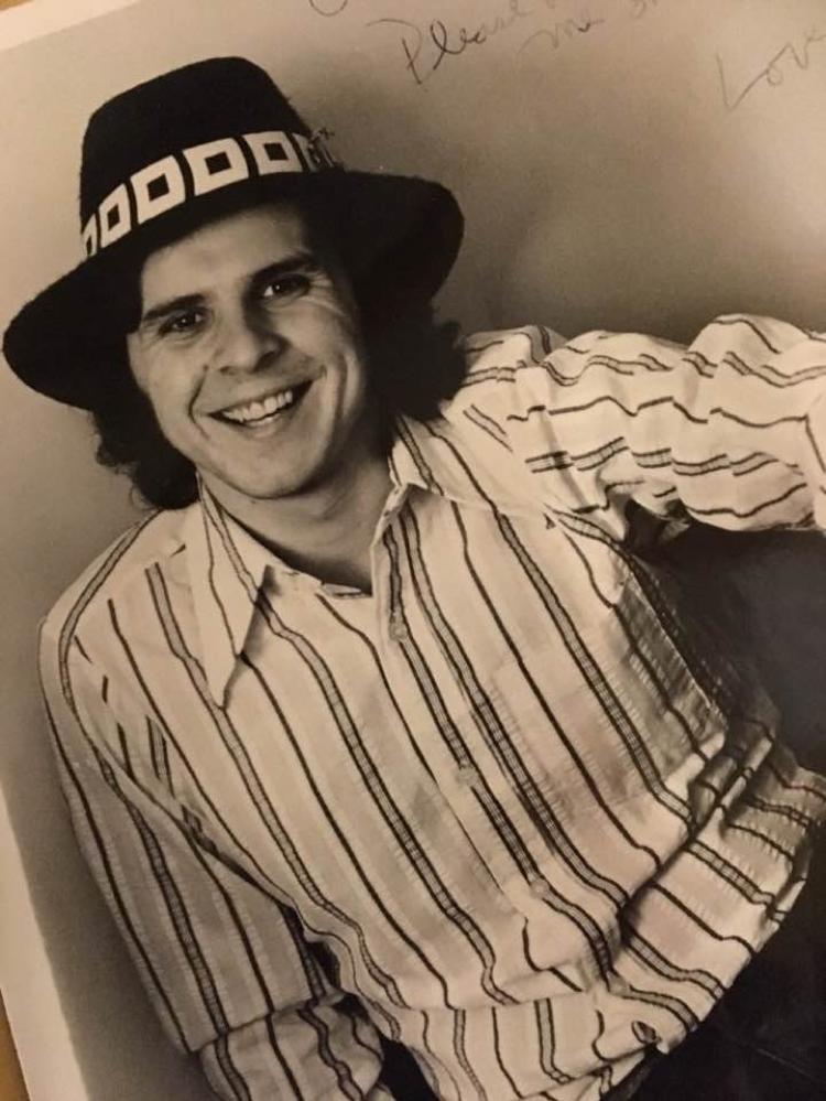 With a favorite hat around 1976.