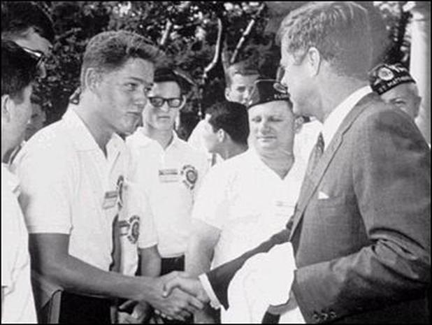 Young Bill Clinton meets President John F. Kennedy during his Boys Nation visit to Washington, D. C., in 1963 (Web image courtesy of cbsnews.com)