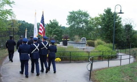 9/11 Memorial  at UMass Lowell, rededication ceremony, 2011 (photo courtesy of UML)