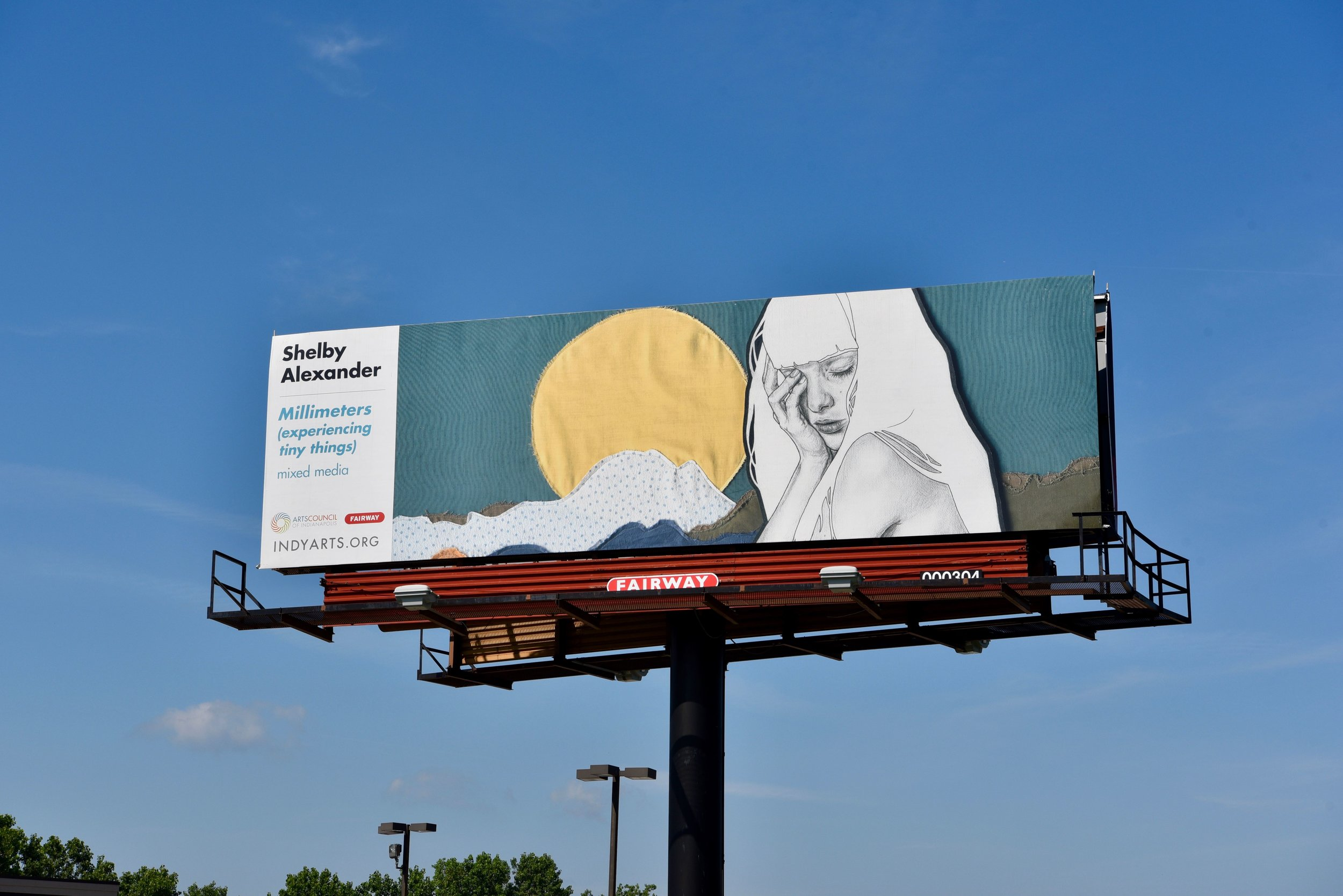 Millimeters (experiencing tiny things)  featured in the High Art Billboard Project, Indianapolis, IN | Aug. 2018 - Aug. 2019