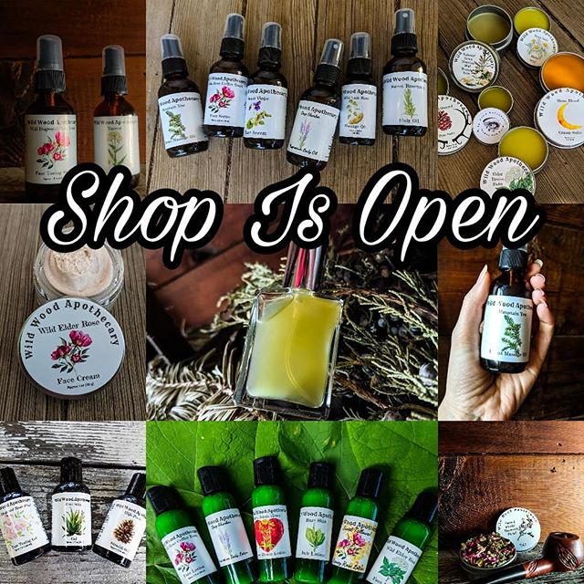 Deep breath. Ready. Set. GO!!!! SHOP IS OPEN! LINK IN BIO! • At time of posting these offerings are available!👇👇👇👇👇 • 🌟=NEW/RETURNED • 🌟California Poppy Tincture . • 🌟Lemon balm tincture . • 🌟Spruce tip tincture . • 🌟Mullein leaf tincture . • 🌟Wild onion bloom elixir . • 🌟Cleavers tincture . • 🌟Usnea tincture . • 🌟Cleavers tincture . • 🌟Lemon balm honey • 🌟Lavender bloom honey • 🌟Summer on the mountain perfume • 🌟Mountain meadow sore muscle spritz • 🌿Yarrow spritz • 🌿Wild dogwood rose petal face toning spritz • 🌿Moon blood tea • 🌿Chocolate spiced mountain chai tea • 🌿Herbal chaga java tea • 🌿Herbal first aid kit • 🌿Blue mountain mouth mud kit • 🌿Blue mountain mouth mud • 🌿Crystalized ginger candy • 🌟Sacred smoke mountain blend • 🌟Grounding Oil • 🌟Mountain yew breast massage oil • 🌿Double infused calendula scar serum • 🌿Dark circle under eye serum . • 🌿Sweet rosemary hair oil • 🌿Chickweed castor oil • 🌿Comfrey infused castor oil • 🌿Calendula Infused Castor Oil • 🌟Deep slumber magnesium body oil • 🌿Wild yam root massage oil • 🌿Wild rose coffee bean face serum • 🌿Sweet violet face serum • 🌿Toothache oil • 🌿Honey pine salve • 🌿Tallowed Green mountain mud drawing salve . • 🌿Dark circle under eye balm • 🌟Elder bruise balm • 🌿Extra strength hemp pain salve • 🌿Moon blood cramp salve • 🌿Deep itch balm • 🌟Saint John's lip balm • 🌟Wild elder rose face lotion • 🌟Sweet tallowed honey rose lotion • 🌟Bare skin itch lotion • 🌟Deep slumber magnesium lotion • 🌟Bare skin itch lotion • 🌟Deep slumber magnesium lotion • 🌟Saint John's heart sore muscle lotion • 🌟Wild rose coffee bean face lotion • 🌟Wild elder rose face cream without tallow • 🌿Wild dogwood rose face toning gel • 🌿Cool skin gel • 🌿High pines blemish gel • Remember folks all profits go towards our non profit hands on herbalism farm goal where you can come & learn side by side with me for FREE!