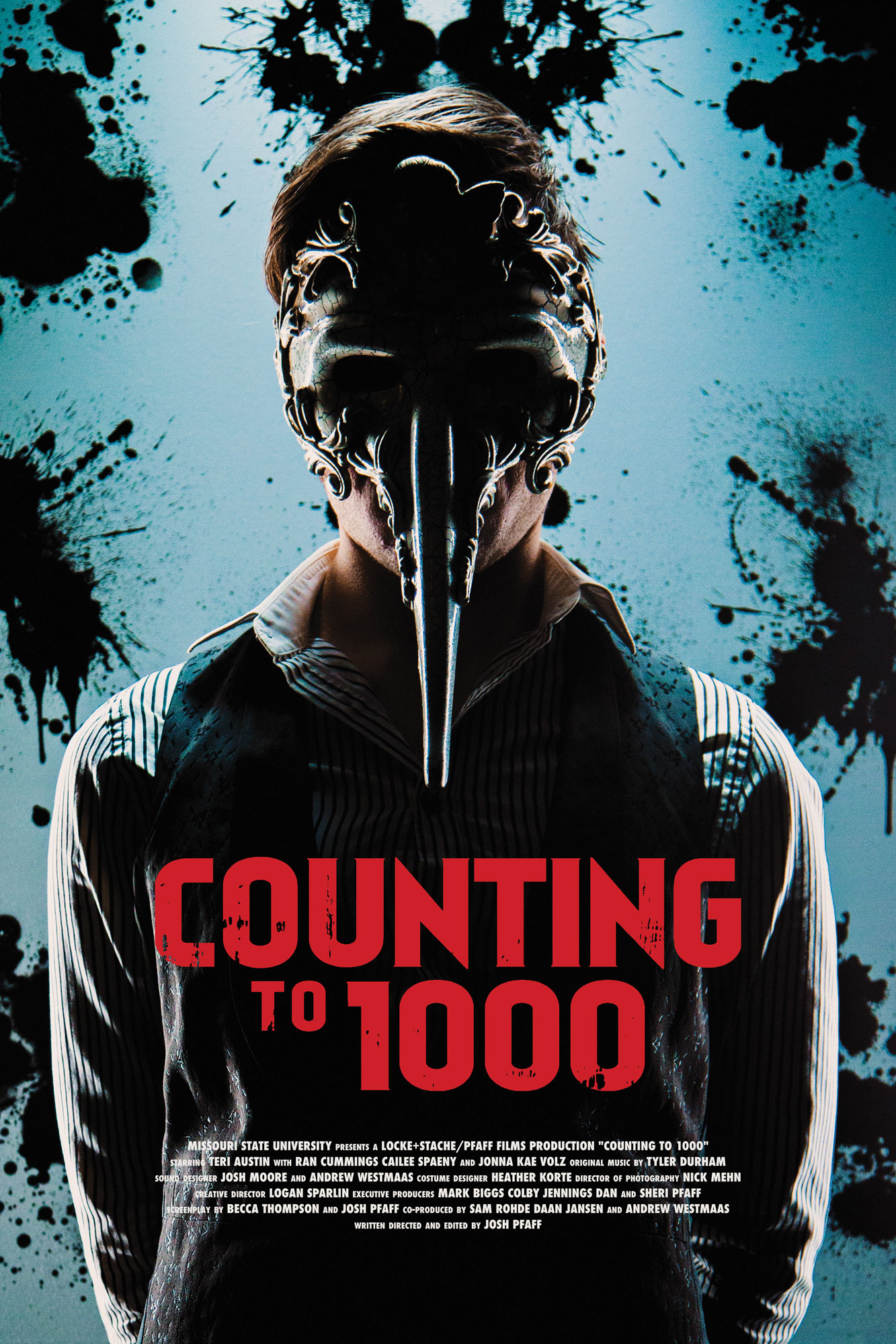 The official Counting to 1000 poster! The film premieres on Sunday, May 8th. Be on the lookout and remember, the worst is waiting...