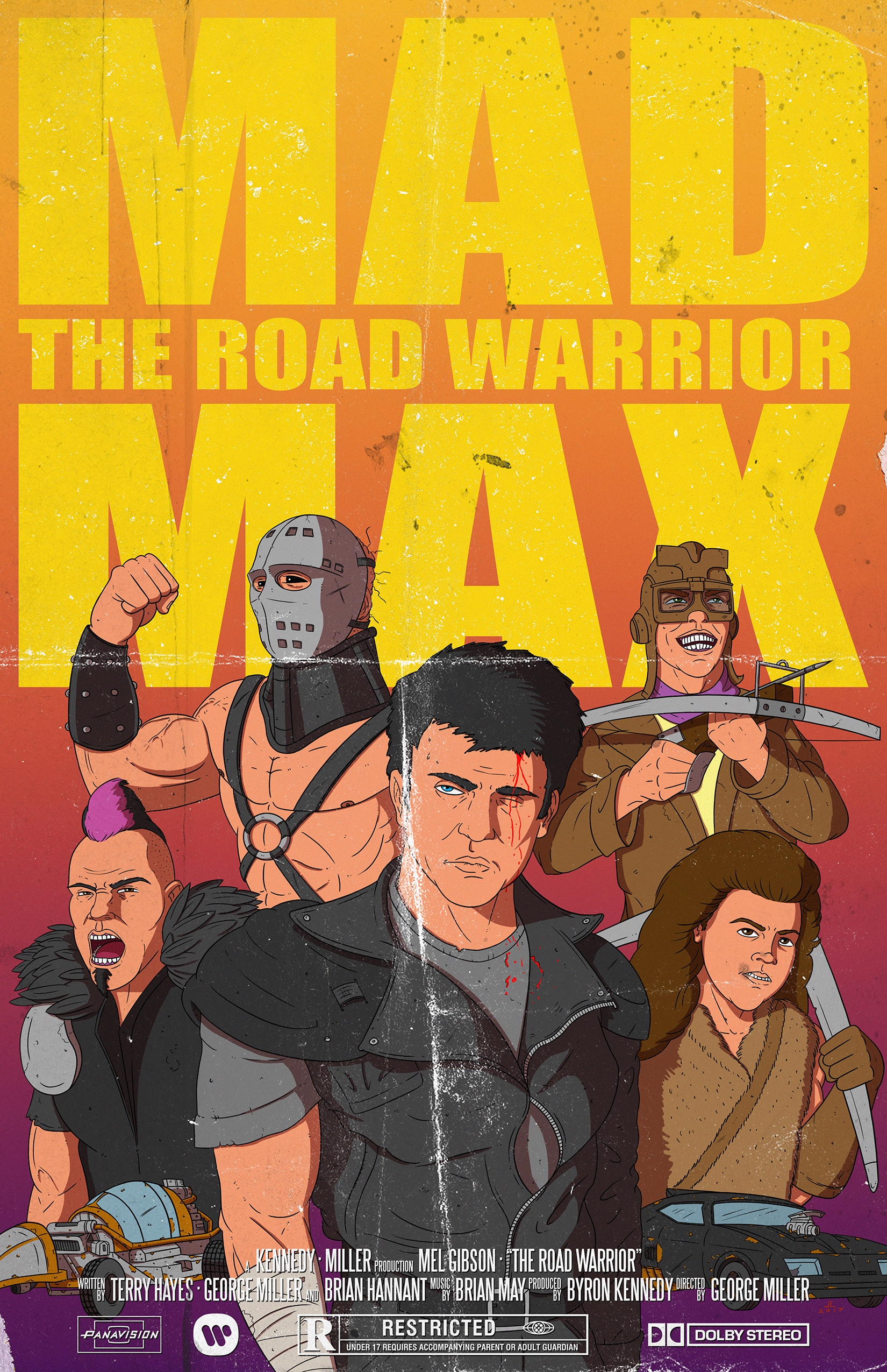Mad Max Road Warrior Poster