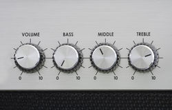 EQ knobs home stereo