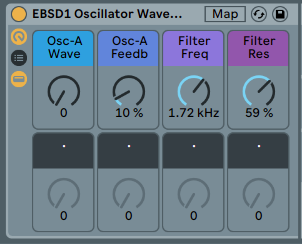 OSCILLATOR WAVEFORMS - Explore Sin, Tri, Square wave etc. See how much you can do with just one sound [.adg 10kb]