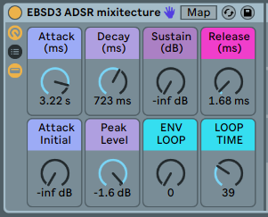 ADSR ENVELOPES - Shape your sound over time with Volume, Filter, Pitch and more.